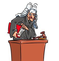 Judge  caricature  character cartoon illustration