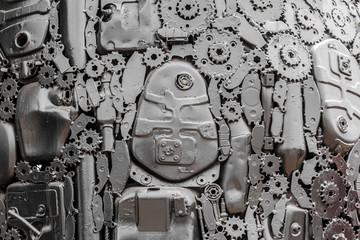 Technology background metallic gears