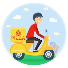 Pizza or food delivery concept