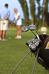 Closeup photo of professional golfing kit