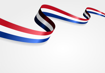 Dutch flag background. Vector illustration.
