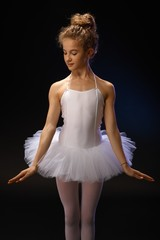 Pretty ballet dancer posing