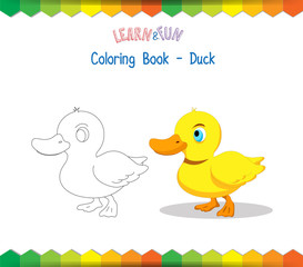 Duck coloring book educational game