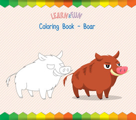 Dog Coloring Book Educational Game Buy This Stock Vector And