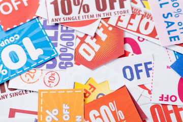 Cutting coupons in different colors