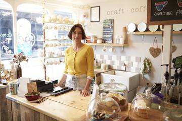 Portrait Of Woman Running Coffee Shop