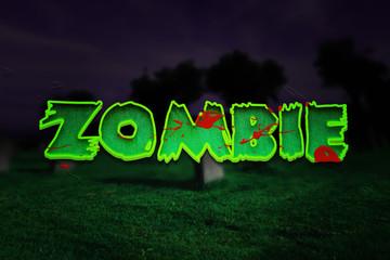 Zombie Halloween Title