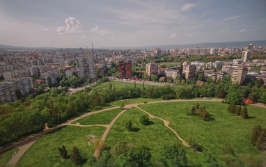 City of Sofia from central park