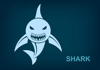 Shark logo, Marine predator, Vector Eps 10