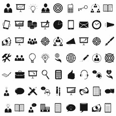Commerce business and office simple icons set