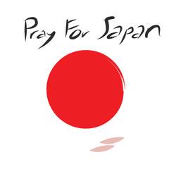Pray for Japan with cherry blossom drop