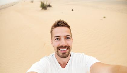 Selfie at desert.