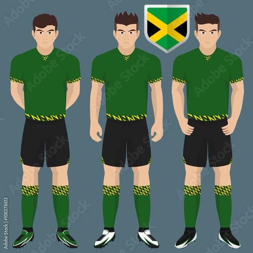 the latest d07a0 711a3 Jamaica National Soccer / Football Team Kit for American ...
