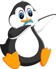 illustration of cute penguin cartoon