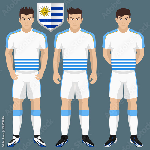 the best attitude 734a9 258f6 Uruguay National Soccer / Football Team Kit for American ...