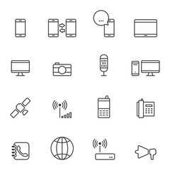 Communication icons,Vector EPS10.