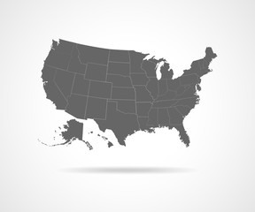 USA states - vector illustration.