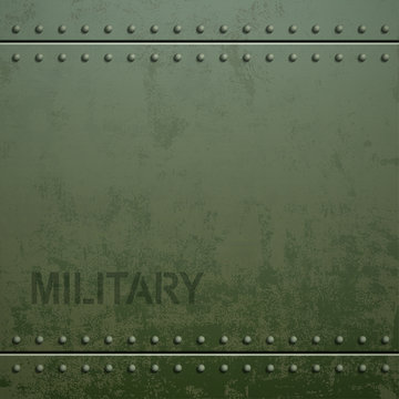 Old military armor texture with rivets. Metal background. Stock