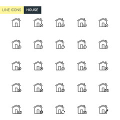 Vector house line icons