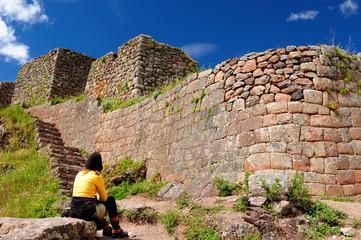 South America, Pisaq Inca ruins, Peru, Sacred Valley,