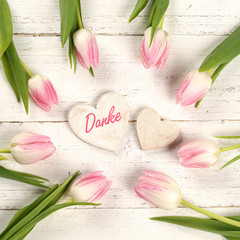 Danke mit Tulpen