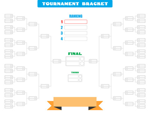 Vector illustration of a blank tournament bracket for 32 teams - Eps10 Vector graphics and illustration