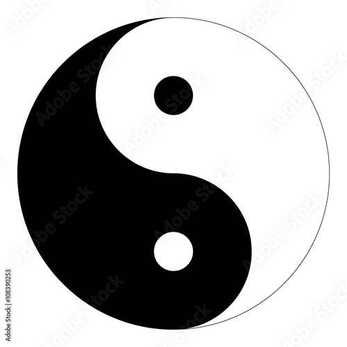 Isolated Black And White Yin Yang Symbol Of Harmony And Balance In