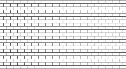Vector white brick wall Wall mural