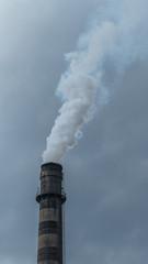 Smoking industrial chimney