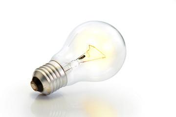 Light bulb / Light bulb on white background.