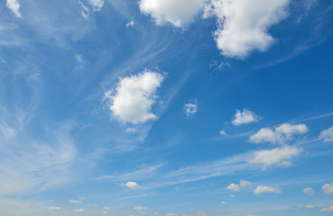 blue sky with soft cloud at day, clear background
