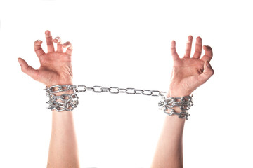 Two hands in chains
