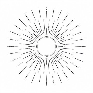 Abstract ray of the sun decoration element