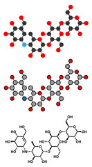 Acarbose diabetes drug molecule.