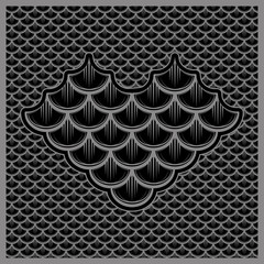 vector illustration seamless pattern of fish scales