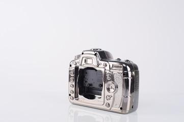 clock camera on white screen