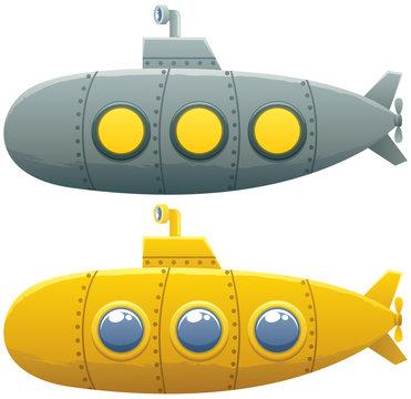 Submarine / Cartoon submarine in 2 versions.