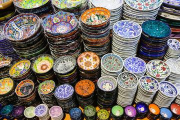 Turkish Ceramics in Grand Bazaar
