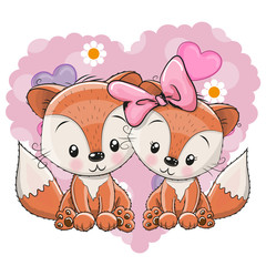 Two Cute Foxes