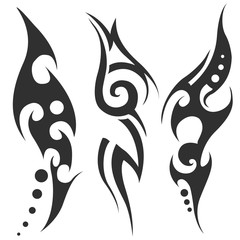 tribal tattoo. vector illustration without transparency.