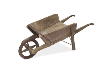A Vintage Wooden Wheel Barrow