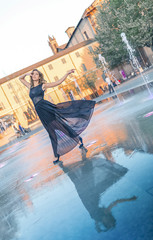 dance in street in reggio emilia