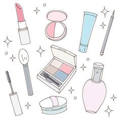 化粧品のイラストセット