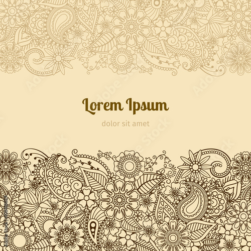 Henna mehndi card template mehndi invitation design vector henna mehndi card template mehndi invitation design vector illustration stopboris Image collections