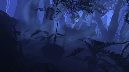 Deep jungle outpost