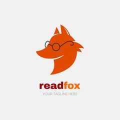 Reading fox vector logo.