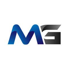 Fototapeta Modern Simple Initial Logo Vector Blue Grey Letters mg obraz