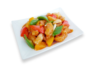 chinese food sweet and sour with fruit salad asian menu 9