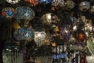 chandeliers in the Grand Bazaar