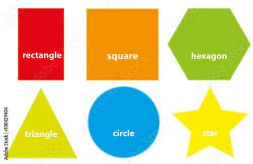 """""""Learning Set Of Basic Geometric Shapes For Children"""